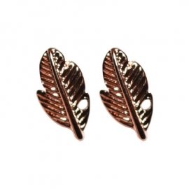 Feather Stud - Rose Gold