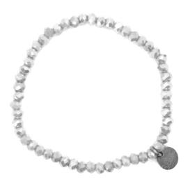 Crystal Beads Bracelet - Silver
