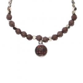 Bead Bracelet - Purple & Silver