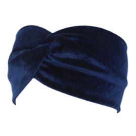 Velvet Headband - Blue