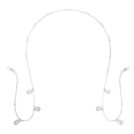 Zonnebrilkoordje - Ketting en 3 muntjes zilverkleurig