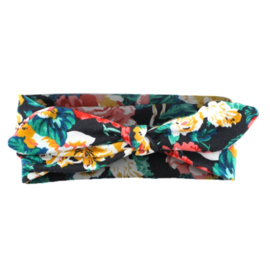 Knot Headband Flowers Girls - Green