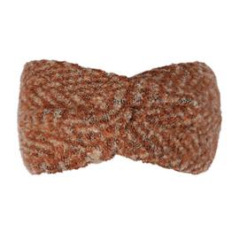 Winter haarband fluffy oranje/ bruin