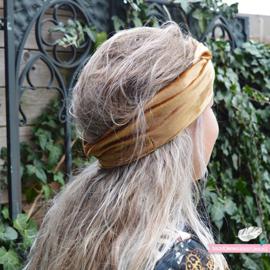Haarband Bandeau Velvet Beige