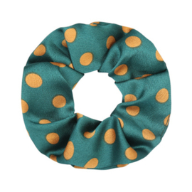 Scrunchie Dot - Green and Yellow