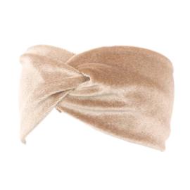 Velvet Headband - Beige/Pink
