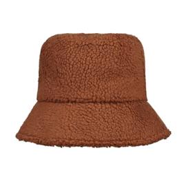 Fluffy teddy hoedje bruin