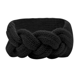 Winter Headband Braid - Black