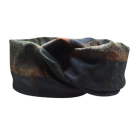 Haarband Bandeau - Ruit, Zwart, Groen en Bruin