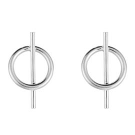 Earrings Mini Round - Silver