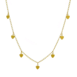 Hearts Necklace - Gold