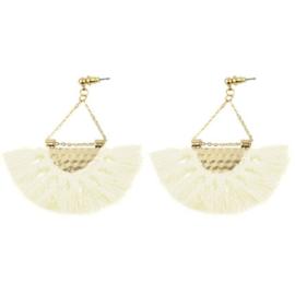 Tassel Earrings Gold - Off White