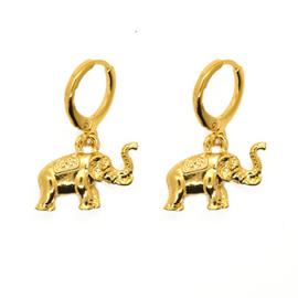 Oorringetjes olifant goudkleurig