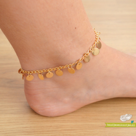 Ankle Strap - Coin & Gold