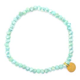 Crystal Beads Bracelet - Mint