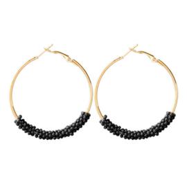 Small Beads Creolen - Black