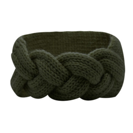 Winter Headband Braid - Green