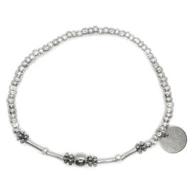 Crystal & Mini Beads - Silver