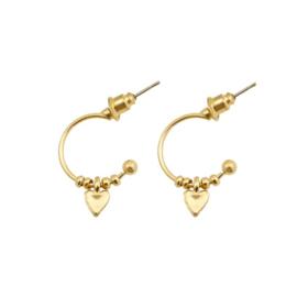 Earrings Boho Heart - Gold