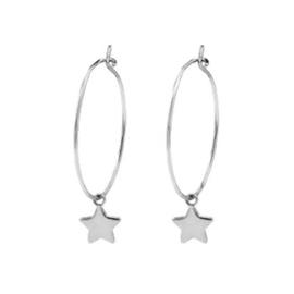 Earrings Boho Star - Silver
