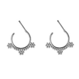 Boho Hoops Dots - Silver