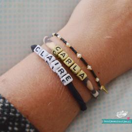 Armbandje met Naam - Zwart
