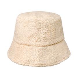Fluffy teddy hoedje beige