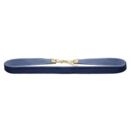 Velvet Choker Small - Blue