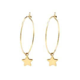 Earrings Boho Star - Gold