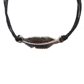 Mix Bracelet Feather - Black Silver