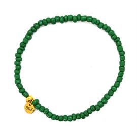 Enkelbandje elastisch kraaltjes groen