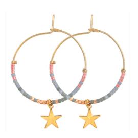 Hoops Beads Star - Pink