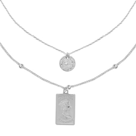 Elizabeth & Coin Necklace - Silver