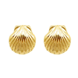 Shell Stud - Gold
