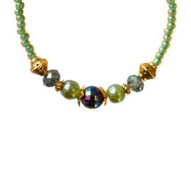 Sparkling Bracelet - Green & Gold