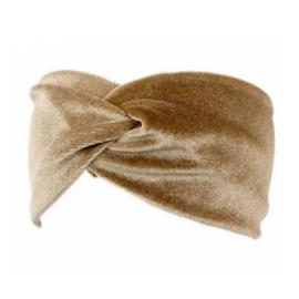 Velvet Headband - Beige