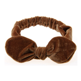 Velvet Headband - Brown