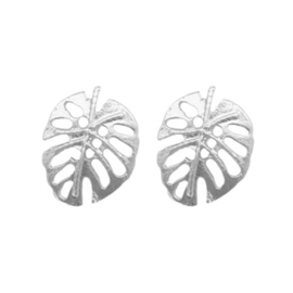 Leaves Stud - Silver