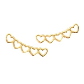 Hearts Stud - Gold