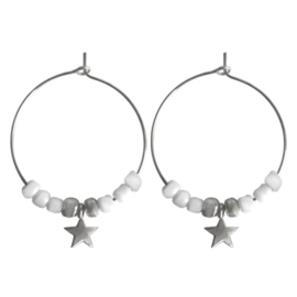 Hoops Beads Star - Silver
