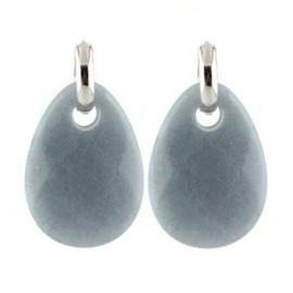 Stone Earring - Grey