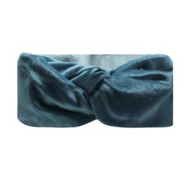Haarband Bandeau Velvet Blauw