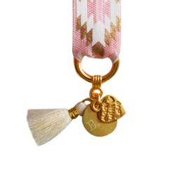 Mini Bracelet - Aztec, Pink & Gold