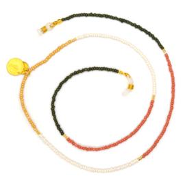 Sunglasses Cord Mini Beads - Yellow, White, Green & Pink