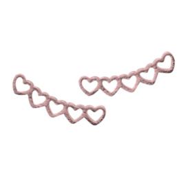 Hearts Stud - Rosé Gold