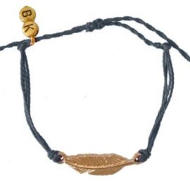 Mix Bracelet Feather - Grey Gold