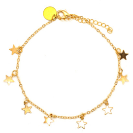 Ankle Strap - Star & Gold