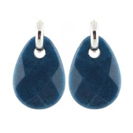 Stone Earring - Blue