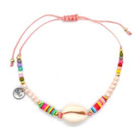 Anklet Strap Shell - Colorful Pink
