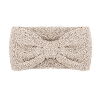 Winter haarband fluffy teddy beige